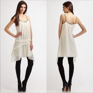 Theory Velima Slip Dress Silk Ruffled Size 10